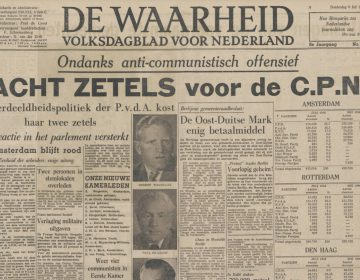 De Waarheid, 8 juli 1948 - Bron: Delpher
