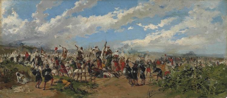 Slag van Guadelete (Mariano Barbasán) Publiek domein/wiki
