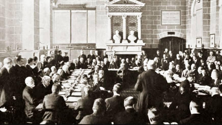 Ondertekening van het verdrag van Saint-Germain