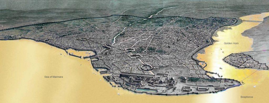 Constantinopel in het Byzantijnse Rijk