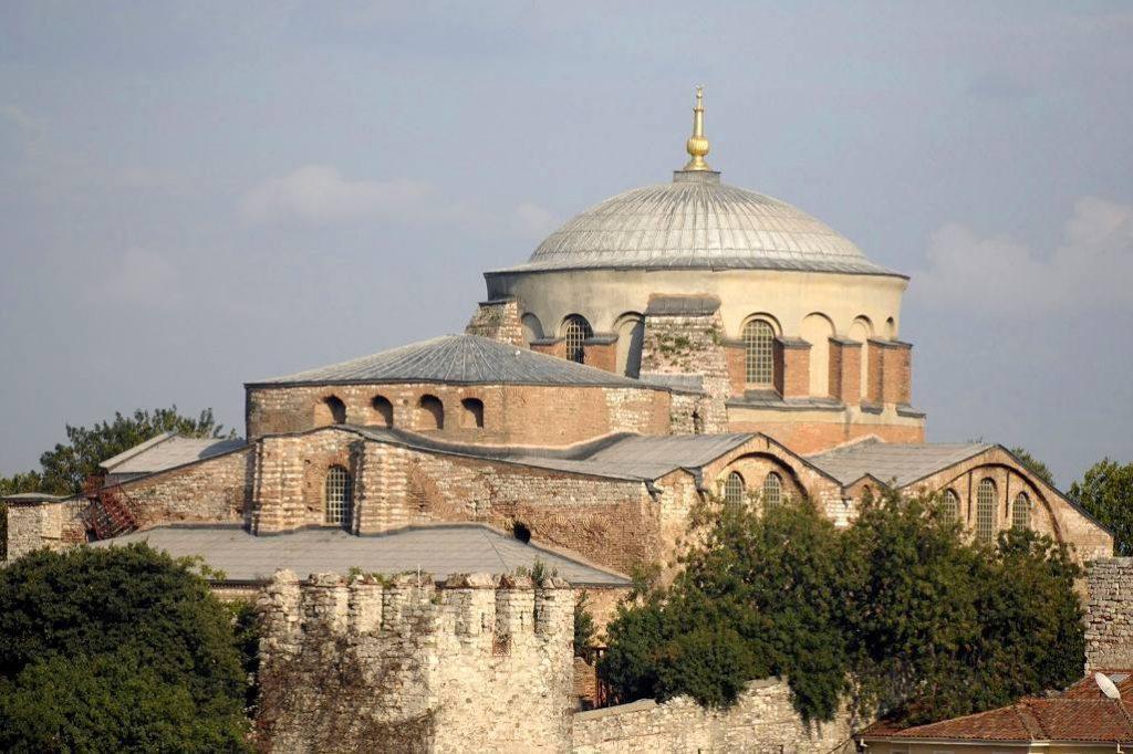 Hagia Irene-kerk in het huidige Istanboel. In de vierde eeuw gebouwd in opdracht van Constantijn de Grote