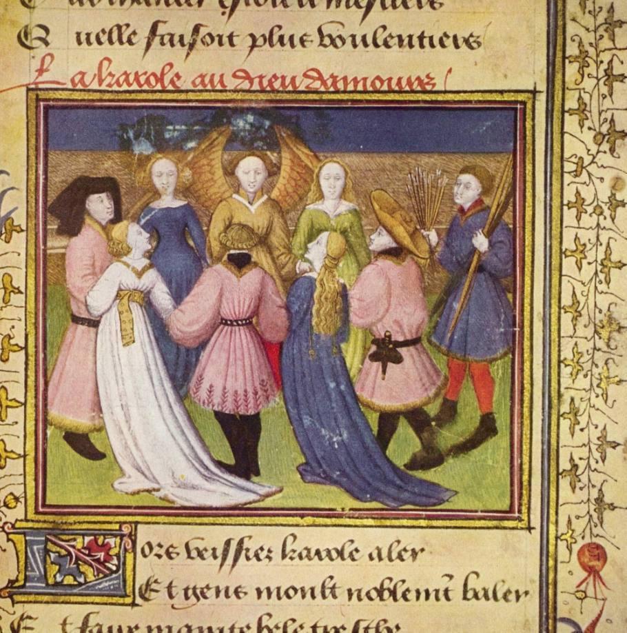 Afbeelding uit een vijftiende-eeuwse uitgave van de Roman de la Rose