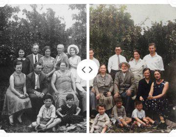 Voorbeeld van een ingekleurde foto via MyHeritage