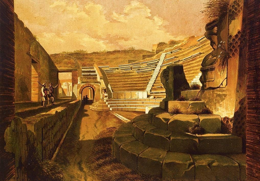 Het kleine theater van Pompeii - Niccolini