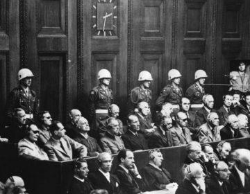 Aangeklaagden tijdens het Militaire Tribunaal in Neurenberg