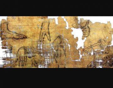 Detail van de Artemidorospapyrus