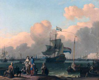 Fregat in Amsterdam - Ludolf Bakhuizen; omstreeks 1690