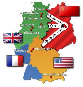 Luchtcorridors bij de blokkade van Berlijn
