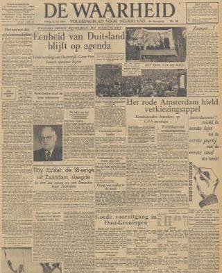 Uitgave van 'De Waarheid' van 21 juni 1949