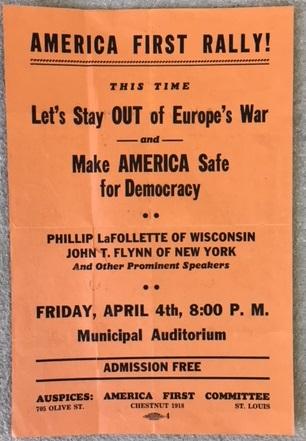 Flyer van het America First Committee