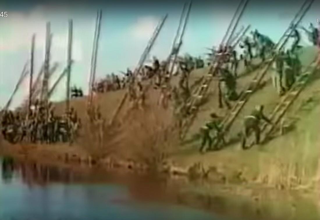 Beeld uit de film Kolberg (Still YouTube)