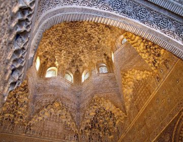 Plafond in het Alhambra in Granada