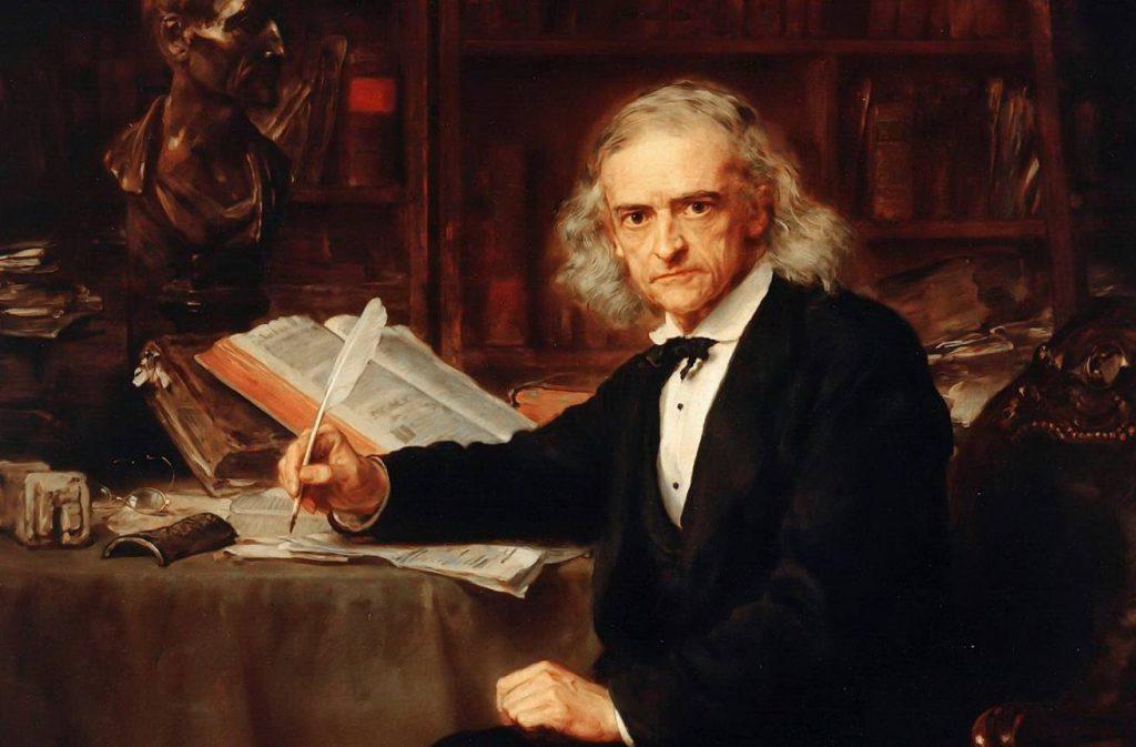 Theodor Mommsen - Schilderij door Ludwig Knaus, 1881