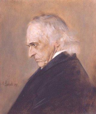 Theodor Mommsen - Portret door Franz von Lenbach, 1897