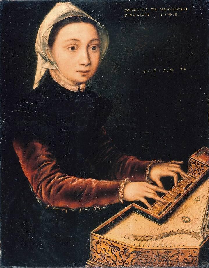 Catharina van Hemessen - Meisje aan het virginaal, 1548 - Wallraf-Richartz-Museum, Keulen