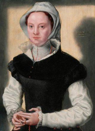 Portret van een vrouw -  Catharina van Hemessen, ca. 1551 - Bowes Museum