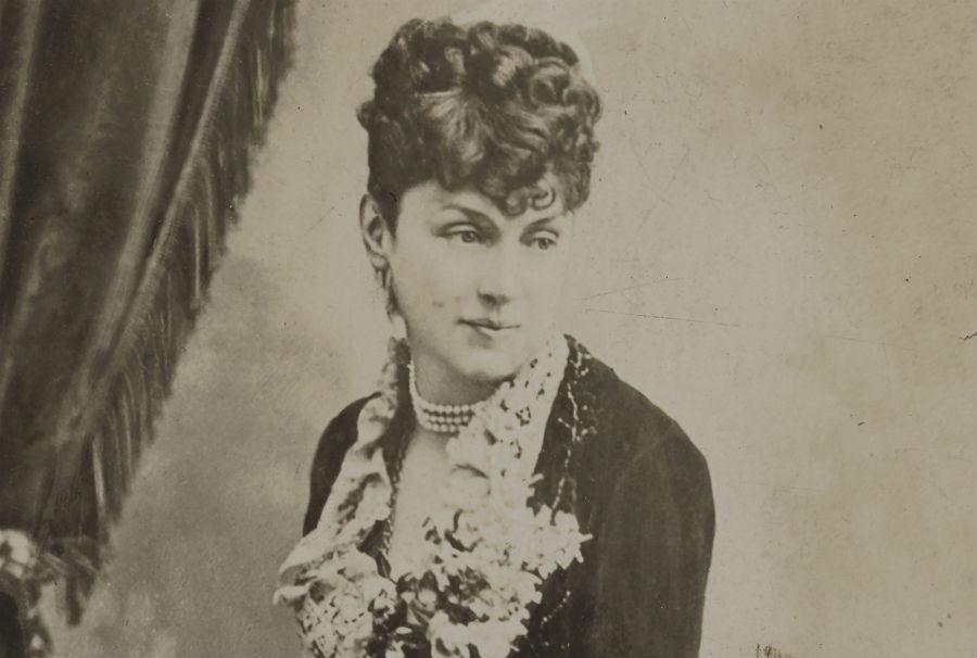 Portret van Marie Arconati Visconti uit 1872 (Kasteel van Gaasbeek)