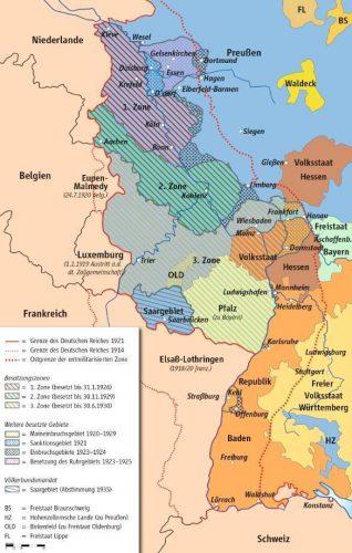 Geallieerde bezettingszones in het Rijnland, 1920-1935