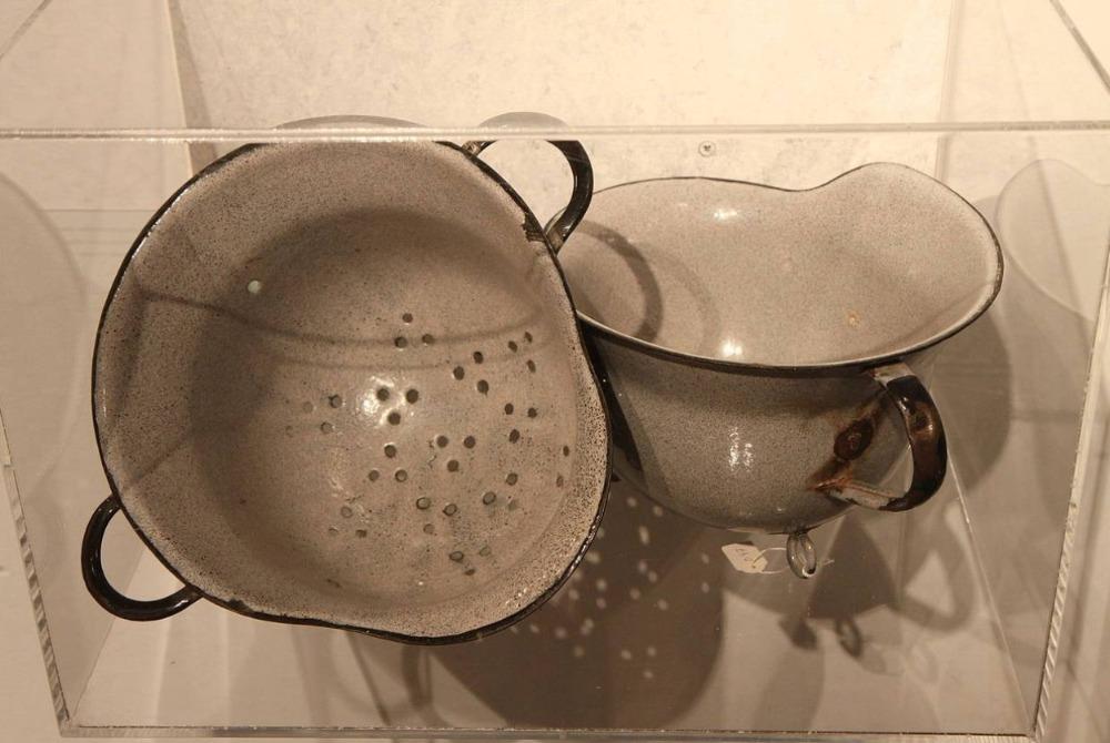 Vergiet gemaakt van een Duitse helm
