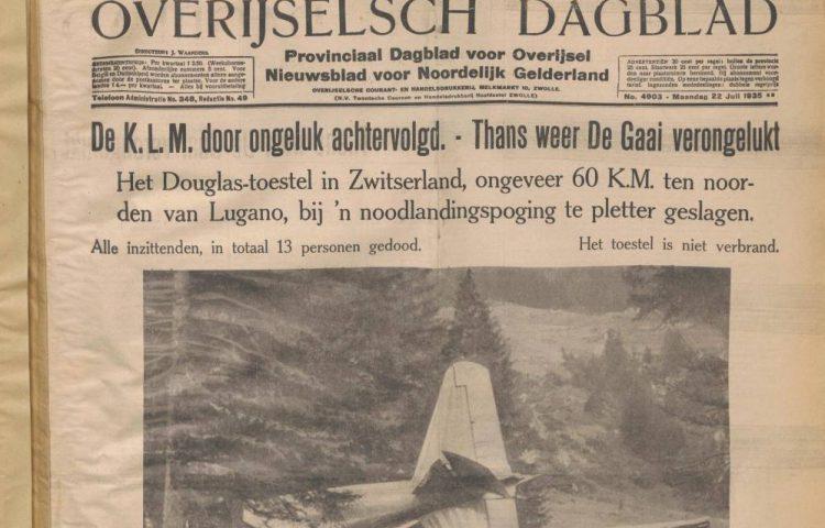 Fragment uit een uitgave van 'Het Overijselsch dagblad'