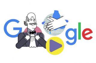 Google Doodle ter ere van Ignaz Semmelweis
