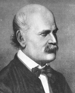 Ignaz Semmelweis (kopergravure van Jenő Doby, 1860)