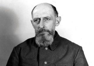Een foto van Paul Blobel in de gevangenis.