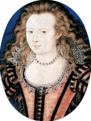Elizabeth Stuart als jonge vrouw - Door Nicholas Hilliard, rond 1605–1610