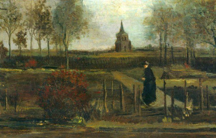 Lentetuin, de pastorietuin te Nuenen in het voorjaar - Vincent van Gogh