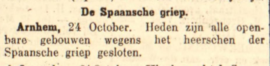 Bericht in de Leeuwarder courant van 24-10-1918 (Delpher)