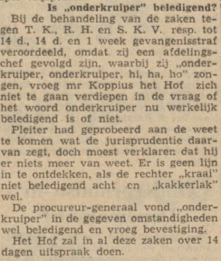 Bericht over het scheldwoord - Friese koerier, 25-04-1953