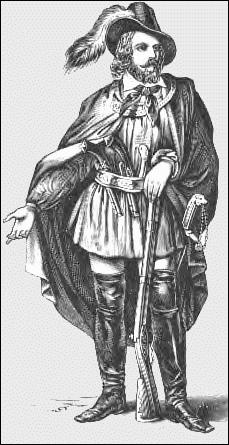 Friedrich Hecker in zijn revolutie-uniform