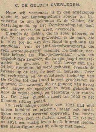 Bron: Algemeen Handelsblad, 1 december 1931, Delpher