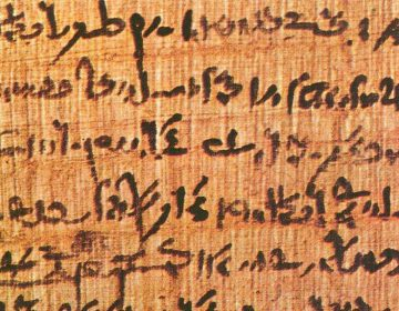Willekeurig papyrusfragment