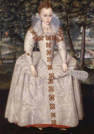 Elizabeth Stuart op zevenjarige leeftijd - Robert Peake the Elder