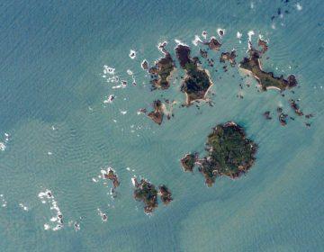 Satellietfoto van de Scilly-eilanden, 2007 (NASA)