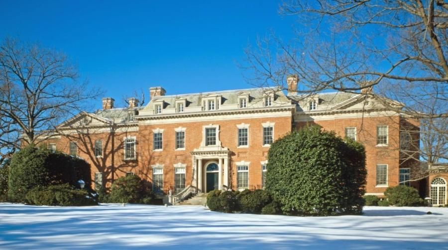 Het landhuis Dumbarton Oaks, de locatie van de conferentie