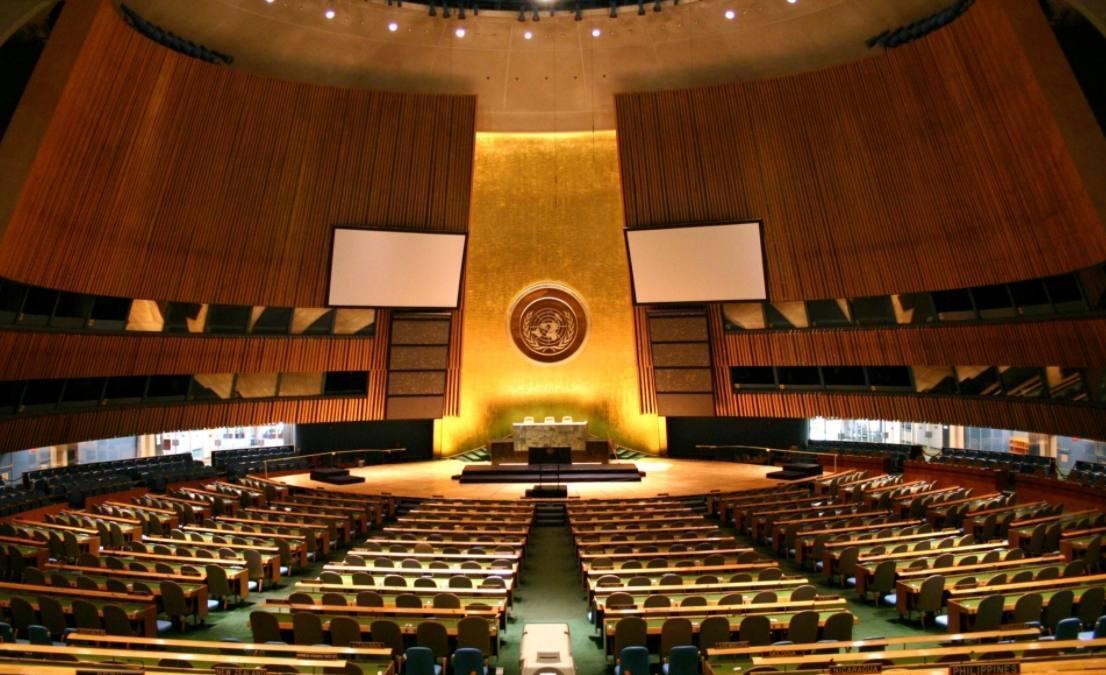 Vergaderzaal van de Algemene Vergadering van de Verenigde Naties in New York