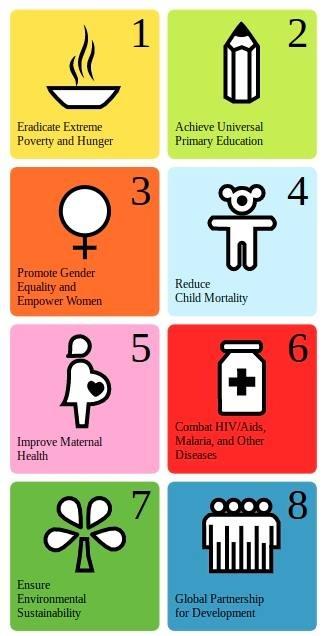 Officiële logos voor de Millenniumdoelstellingen