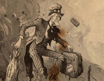 Isolationisme - Cartoon uit 1919 waarmee aangegeven wordt dat Amerika zich tijdens WOI beter niet met Europese aangelegenheden had kunnen bemoeien
