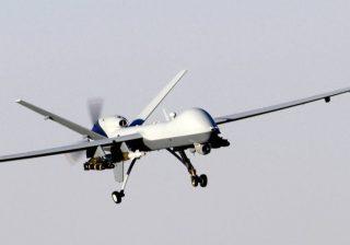 Een MQ-9 Reaper, een drone zoals gebruikt door het Amerikaanse en Britse leger, met name in Irak en Afghanistan