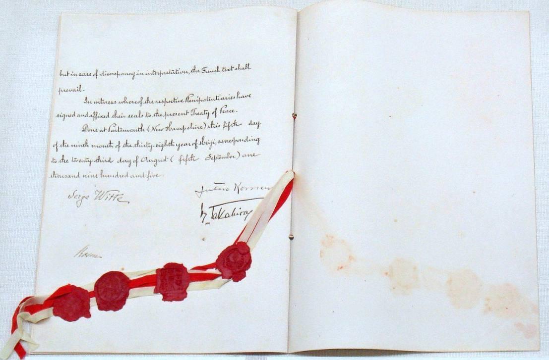 Verdrag van Portsmouth maakte een einde aan de Russisch-Japanse Oorlog