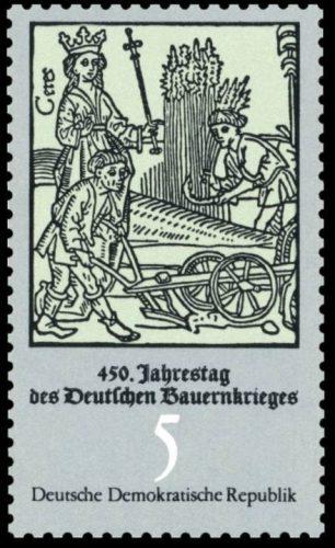 DDR-postzegel ter herinnering aan de Duitse Boerenoorlog