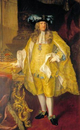 Staatsieportret van keizer Karel VI door Johann Gottfried Auerbach, 1735.