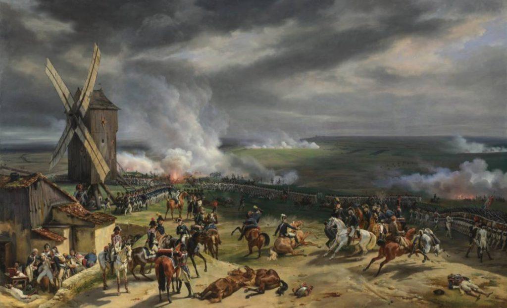 Slag bij Valmy - Schilderij van Horace Vernet