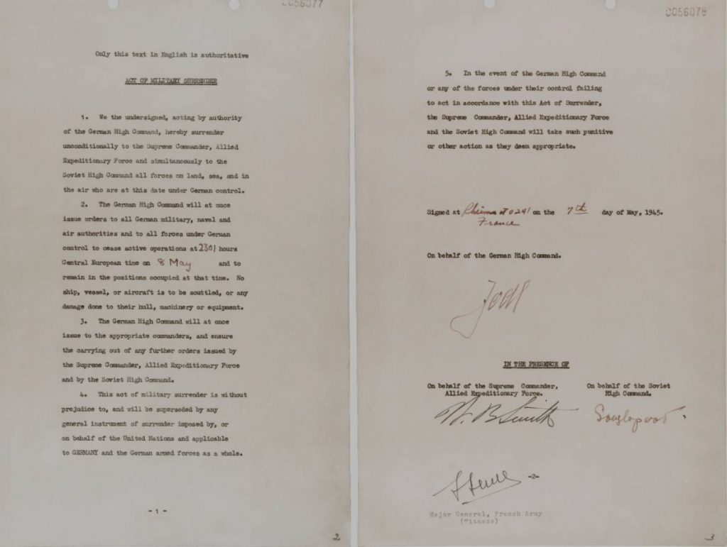 Act of Military Surrender, Reims, 7 mei 1945