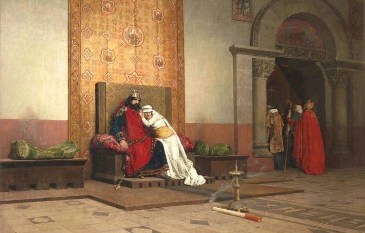De excommunicatie van Robert de Vrome - Jean-Paul Laurens