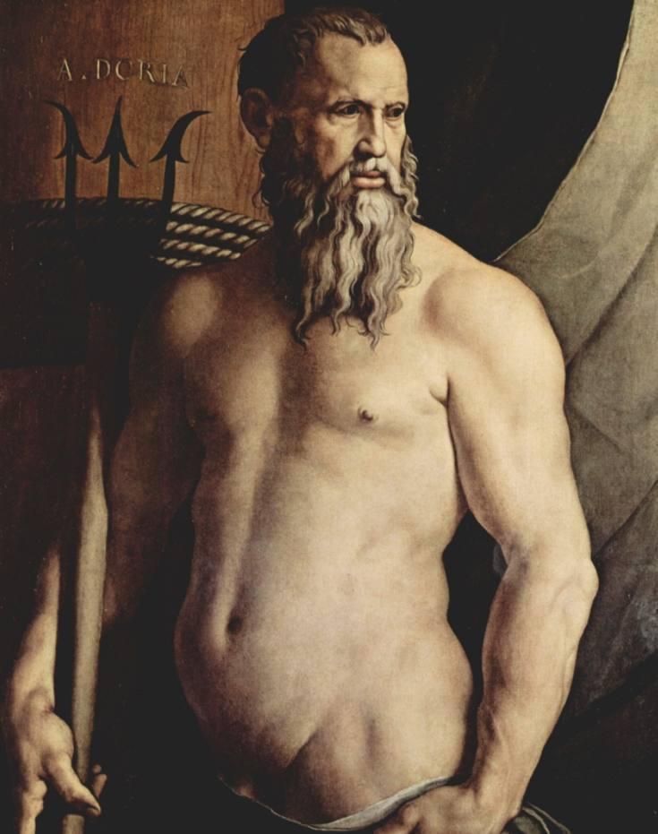 Andrea Doria als Neptunus, door Agnolo Bronzino