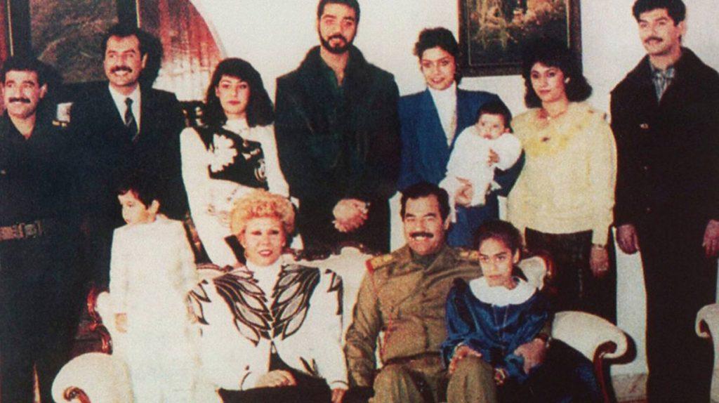 Saddam Hoessein en zijn familie, eind jaren tachtig
