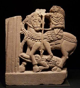Horus als drakendoder (Louvre, Parijs)